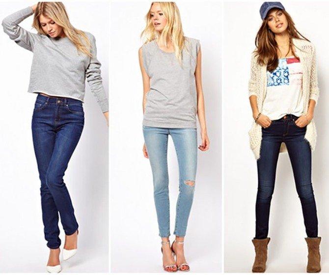 Базовый гардероб на весну - джинсы