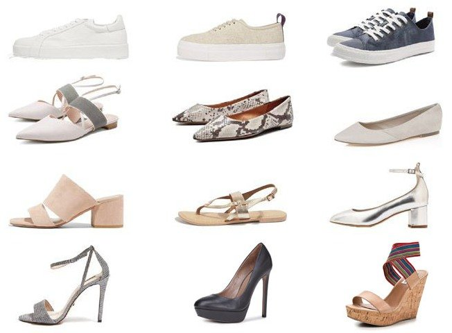 Базовый гардероб на лето - обувь