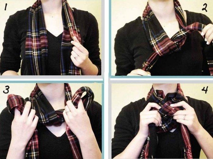 Как завязать шарф красиво?