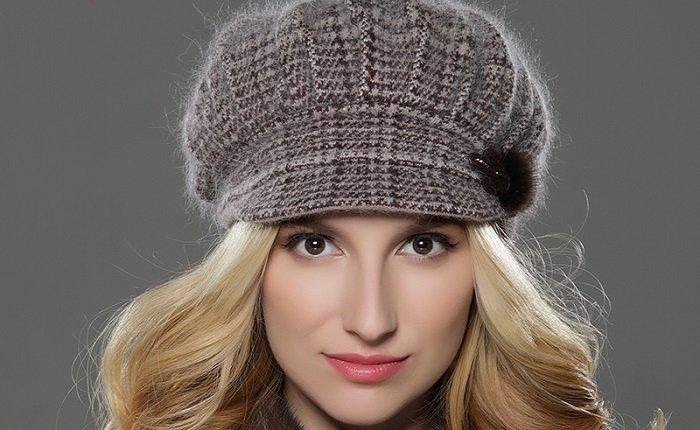 Женские шапки для круглого лица